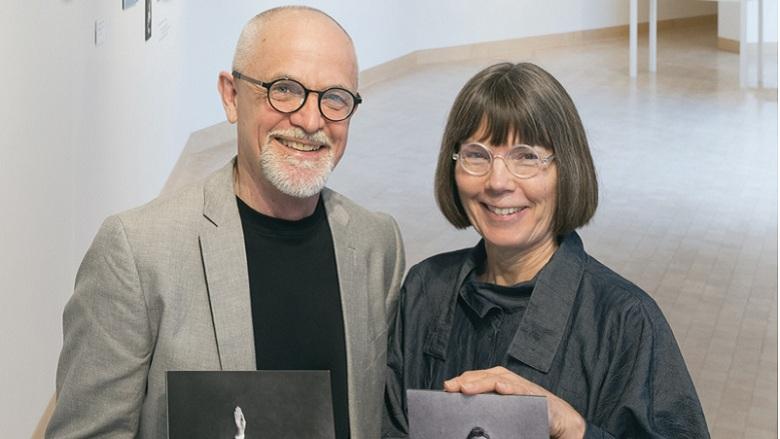 The James Watrous Gallery's Randall Berndt and Martha Glowacki.