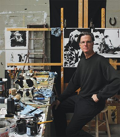 Craig Blietz in his Sister Bay studio. Photo courtesy of the artist.