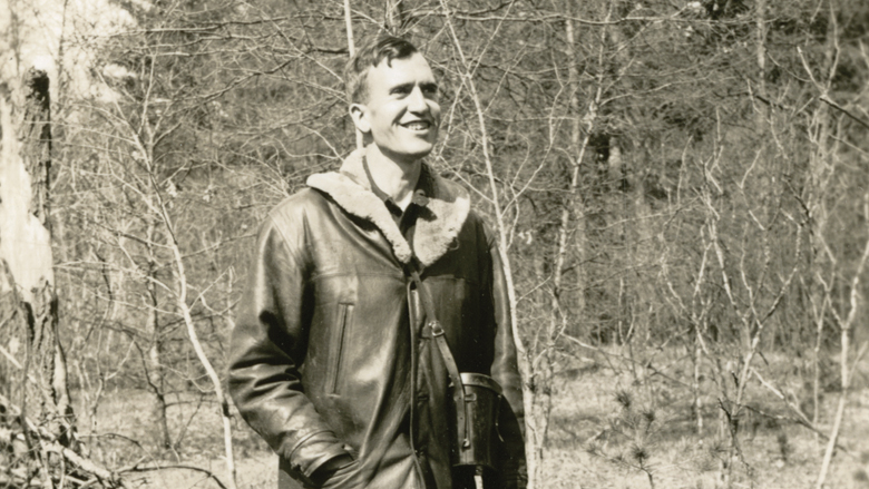 Franklin Schmidt, May 3, 1935. Photo courtesy of the Aldo Leopold Foundation  and The University of Wisconsin–Madison Archives (ID S14477).