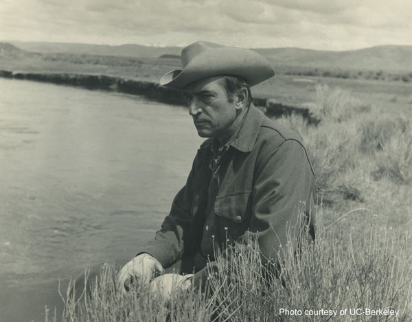 Luna Leopold in the mid-1970s along the East Fork River in Wyoming.