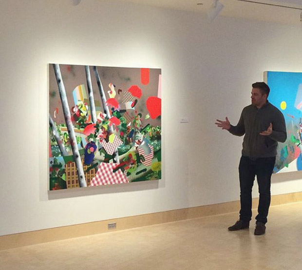 Tom Berenz's artist talk at James Watrous Gallery