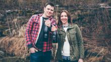 Paul Asper and Lissa Koop from Restoration Cider Company represent a new generation of craft hard cider brewers in Wisconsin. Photo by Kaia Calhoun Photography.