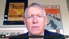 A still image from Tom Boldt's presentation