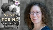 Photo of Lauren Fox and her book, SEND FOR ME