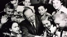 """James Schwalbach, the driving force behind the """"Let's Draw"""" program from 1936 to 1970."""