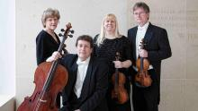 The Pro Are Quartet today: Sally Chisholm, viola; Parry Karp, violoncello;  Suzanne Beia, violin; David Perry, violin