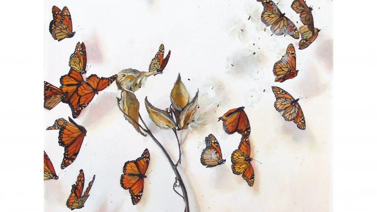 Katie Musolff_Milkweed Monarch (detail)