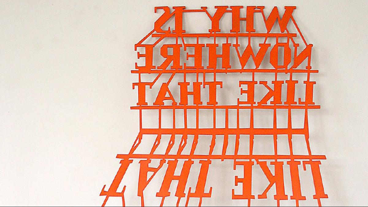 Will Pergl, Why is Nowhere Like That, 2014. Painted laser cut steel, dimensions variable.