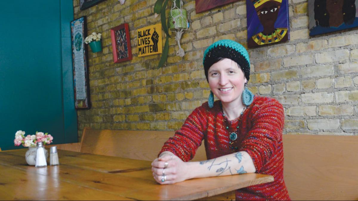 Tricklebee Café executive director Christie Melby-Gibbons believes everyone deserves a warm, healthy meal. Photo by Mckenzie Halling.