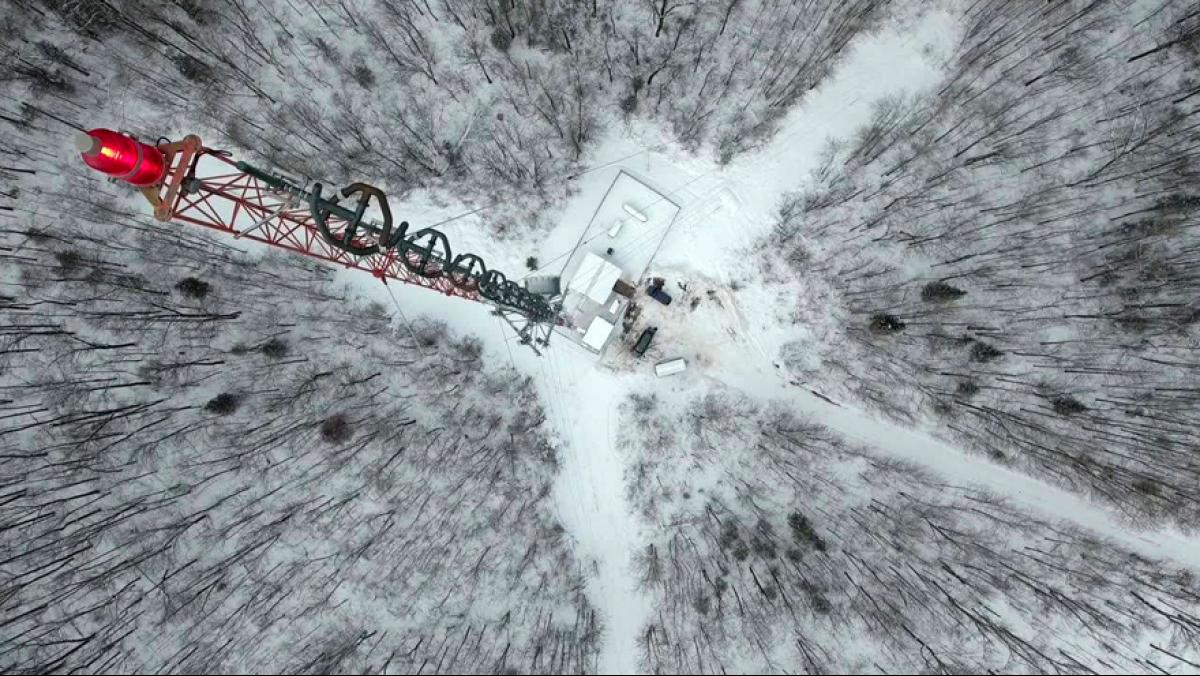 The 100,000 watt transmitter at WOJB broadcasts up to 80 miles. Photo courtesy of WOJB.