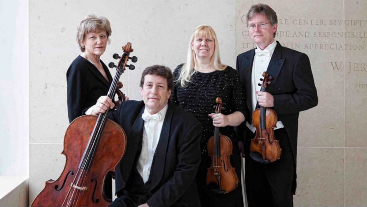 The Pro Are Quartet today: Sally Chisholm, viola; Parry Karp, violoncello;  Suzanne Beia, violin; David Perry, violin