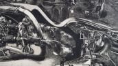 Jack Damer, Elephant Castle (detail), 1969. Etching, 24 x 28 inches.