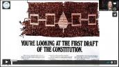 Photo of first draft of US Constitution (made by First Nations)