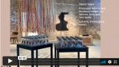 Interior shot of installation at Garver Gallery