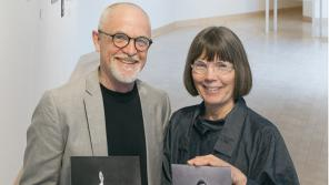 The James Watrous Gallery's Randall Berndt and Martha Glowacki.
