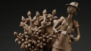 Gerit Grimm, Gardener, 2012. Stoneware (reduction cone 6), 39 x 23 x 25 inches