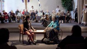 "Finding Penelope's climactic ""chorus"" scene. Photo courtesy of 371 Productions."