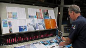 Quad/Graphics' modern, large-format presses reduce energy consumption per printed page while inline finishing reduces paper waste and minimizes logistics.
