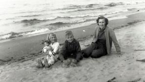 Jane as a child on the shores of Lake Michigan.