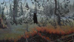 Image: Tom Uttech, nin gaskanas, 2013 (detail). Oil on linen, 57 x 61 in. Courtesy of Tory Folliard Gallery.