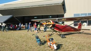 A scene from a recent Wisconsin Flying Hamburger Social in Brodhead