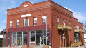 Newly renovated by West CAP, this historic building on Main Street in Boyceville serves as the nonprofit's regional food pantry and has four energy-efficient apartments on the second level.
