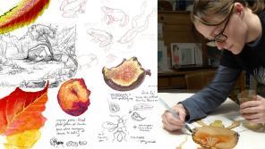 Image of autumn sketchbook and instructor Jacki Whisenant