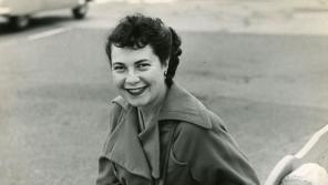 Ida at Burbank Airport, Los Angeles, 1950. Photograph by Simon Nathan.