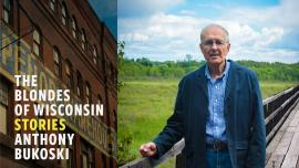 Photo of Anthony Bukoski and his book THE BLONDES OF WISCONSIN