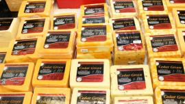 Cedar Grove Cheese on display