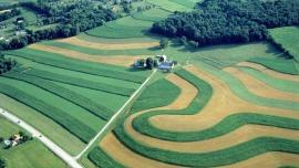 Contoured agricultural fields