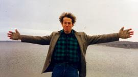 A 1995 photo of the artist Arthur Kdav in Lake Geneva, Illinois. Photo by Heather Swan.