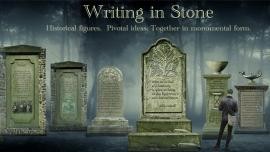 Writing in Stone at the James Watrous Gallery