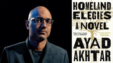 image of author and book cover