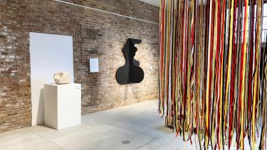 Photo of installation in Garver Gallery space